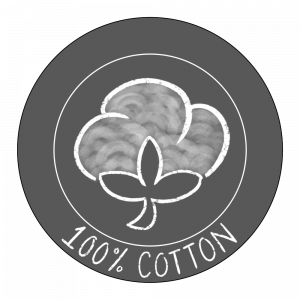 100% cotton icon