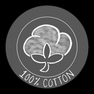 100% cotton icon