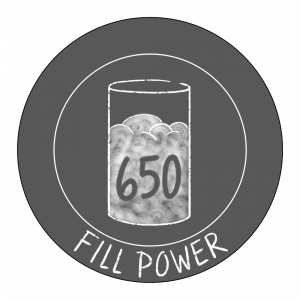 650 fill power icon