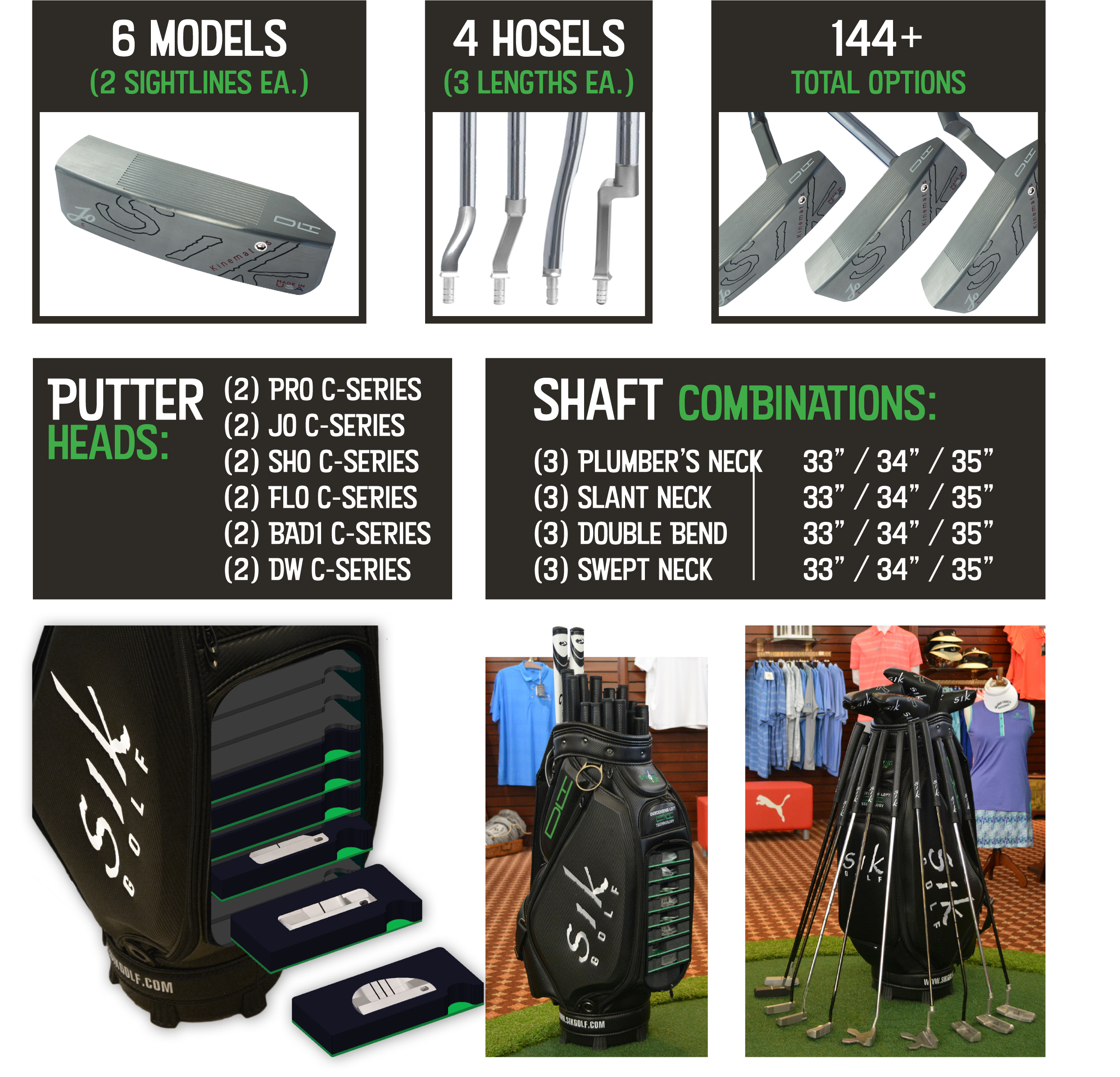 SIK GOLF FITTING CART