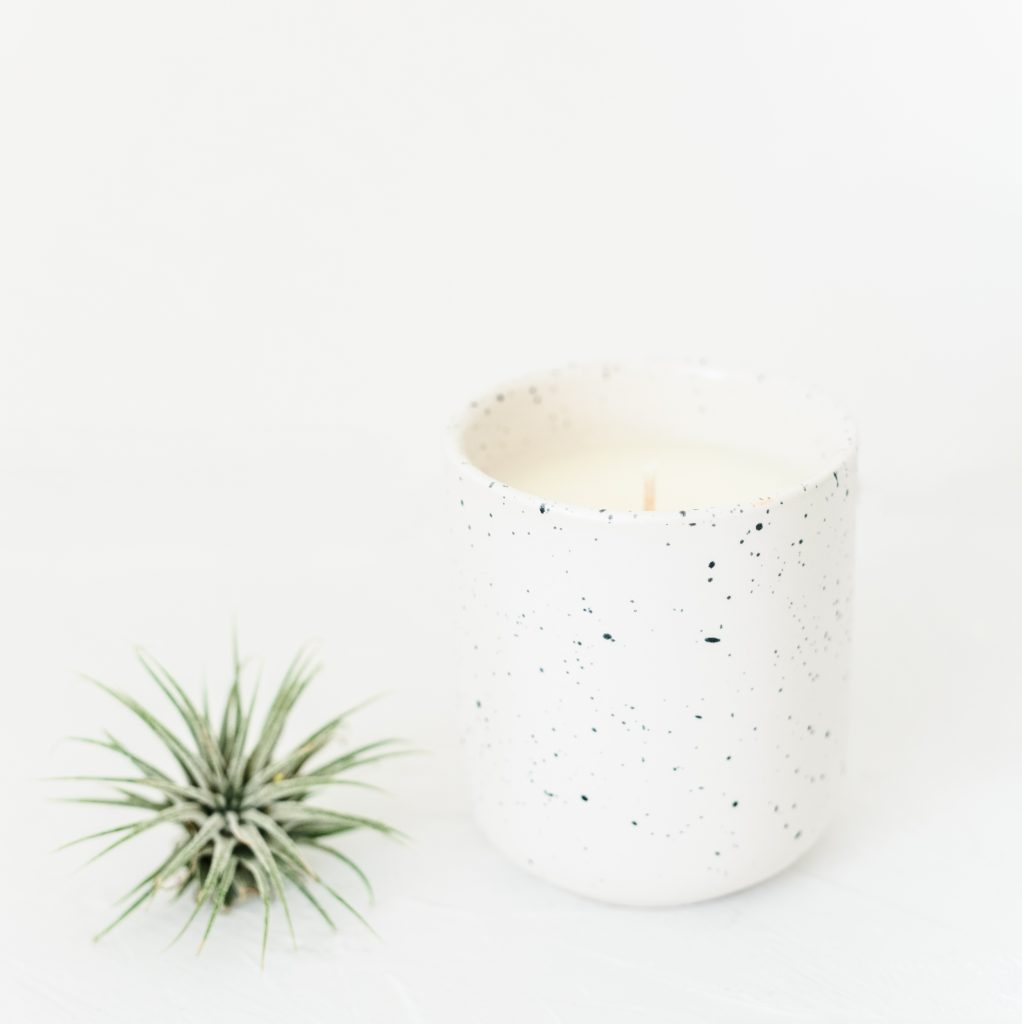 minimalist ceramic candle photo