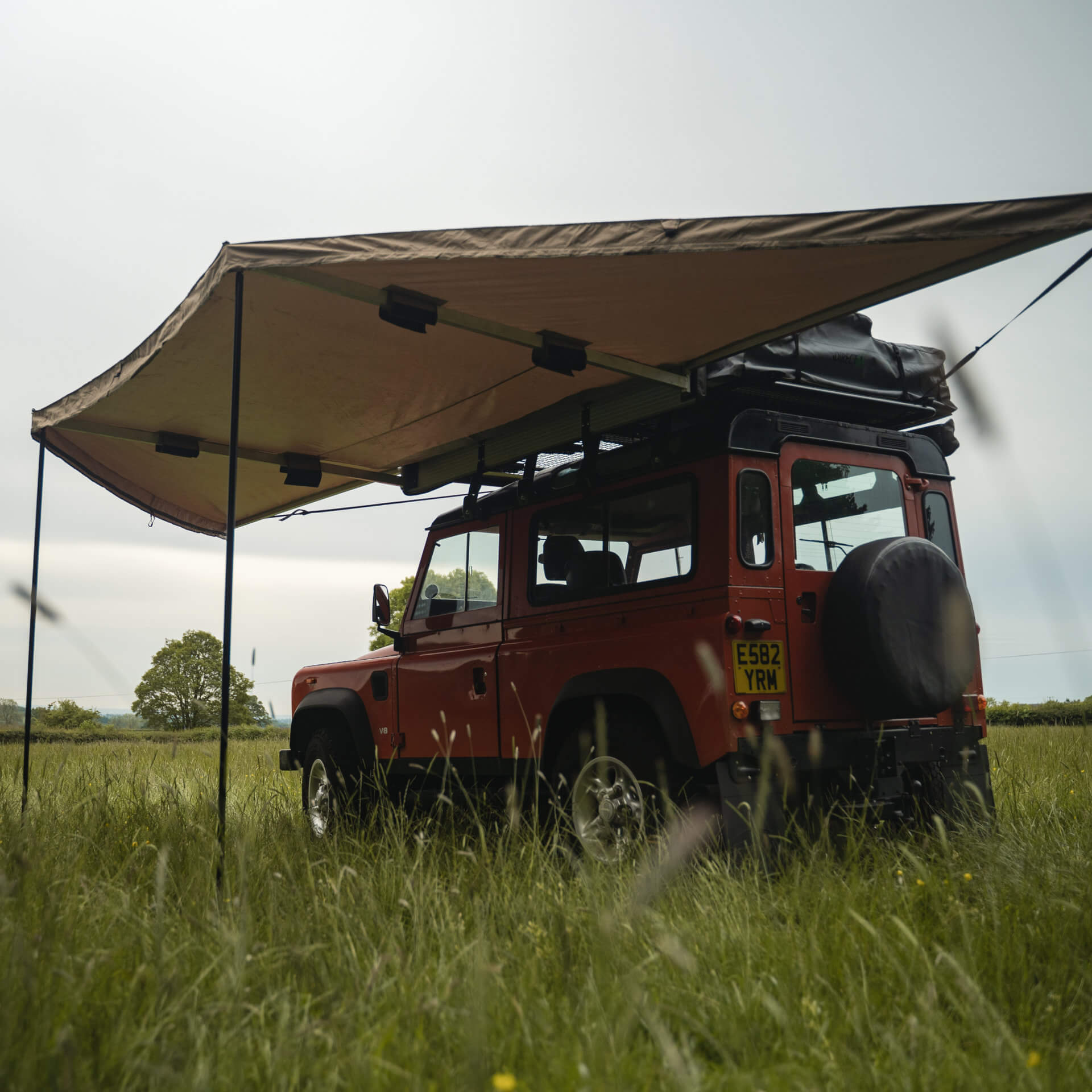 Direct4x4 180 Overland Expedition Fold-Out Vehicle Camping Side Awning