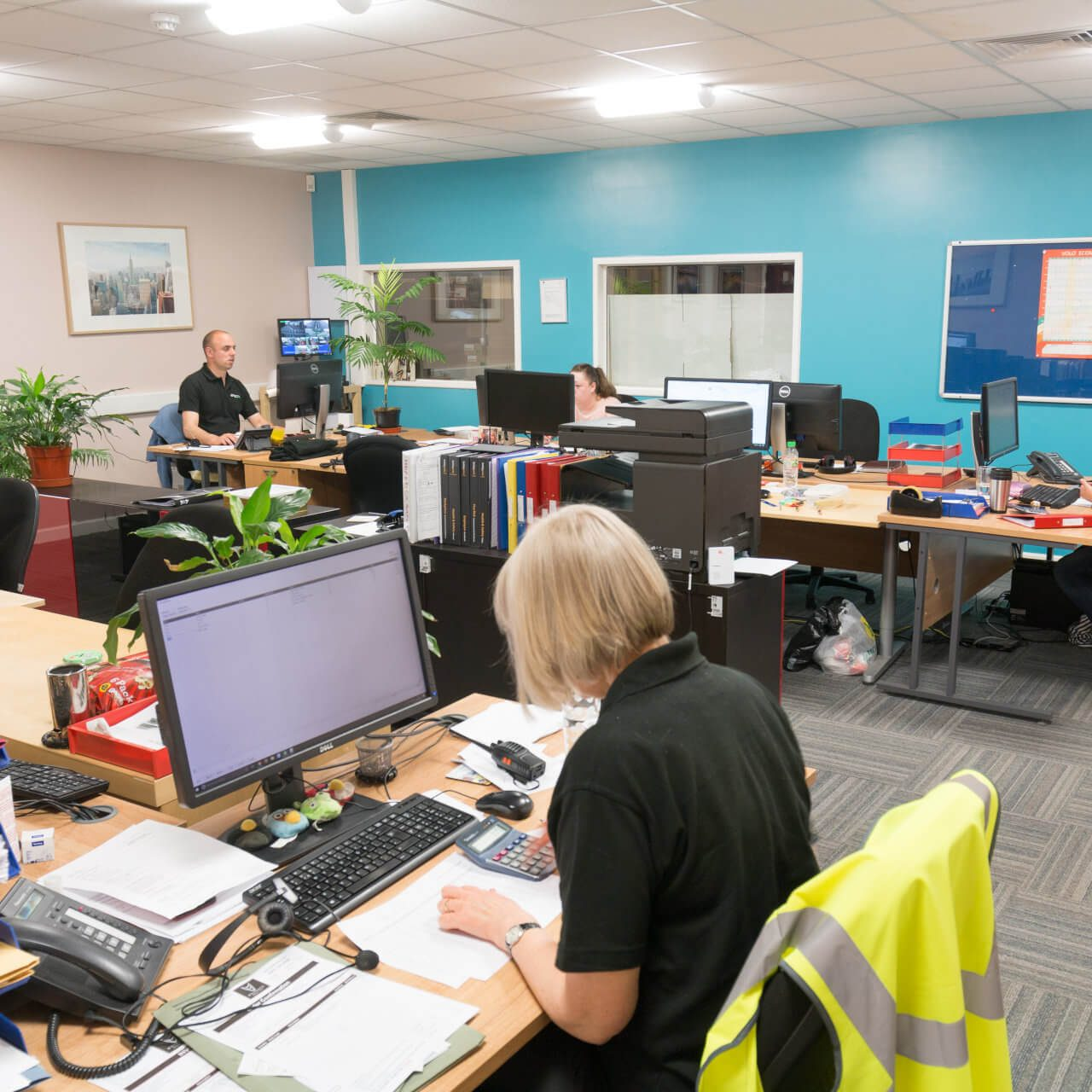 Direct4x4 office in Derby with staff members working at their desks